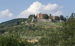 Um Schloss von Brolio im Chianti lizenzfreies stockbild