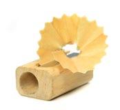 Um sharpener de lápis de madeira Fotografia de Stock Royalty Free