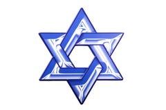 Um sinal da estrela de David para o Hanukkah Fotos de Stock Royalty Free