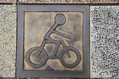Um sinal da motocicleta Foto de Stock Royalty Free