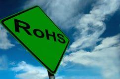 Um sinal de RoHS Foto de Stock Royalty Free