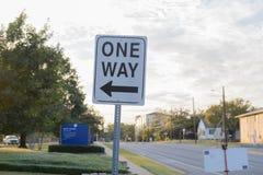 Um sinal de tráfego da maneira Imagem de Stock Royalty Free