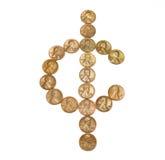 Um sinal do centavo Imagens de Stock Royalty Free