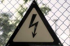 Um sinal do perigo ilustração stock
