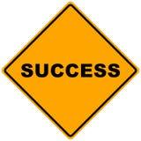 Um sinal do sucesso Imagem de Stock Royalty Free