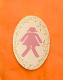 Um sinal do toalete da senhora Fotografia de Stock Royalty Free
