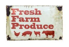 Um sinal fresco do produto de exploração agrícola Fotos de Stock