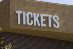 Bilhetes da admissão do evento do entretenimento Imagens de Stock Royalty Free