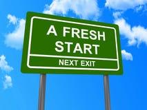 Um sinal seguinte da saída do novo começo ilustração royalty free