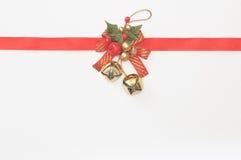 Um sino de Natal Imagens de Stock Royalty Free