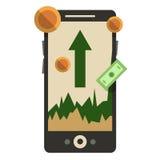 Um smartphone app para trocar na troca Vetor Illustratio Imagem de Stock