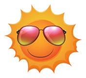 Um sol com máscaras ilustração royalty free
