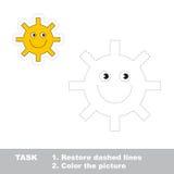 Um sol verde dos desenhos animados a ser seguido Imagem de Stock