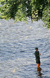 Um soldado novo na água Imagem de Stock