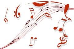 Um sonho musical ilustração stock