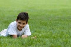 Um sorriso adolescente Imagem de Stock Royalty Free