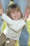 Um sorriso brilhante das meninas fotografia de stock royalty free
