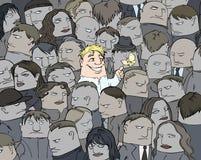 Um sorriso em uma multidão Imagem de Stock Royalty Free