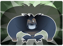 Gorrila agressivo Foto de Stock Royalty Free