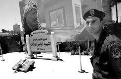 Um standig dos soldados em ramallah Fotos de Stock