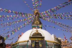 Um stupa em Kathmandu Fotografia de Stock