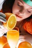 Um suco de laranja fotografia de stock