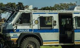 Um sul - veículo blindado do Nyala africano do serviço policial Fotografia de Stock Royalty Free
