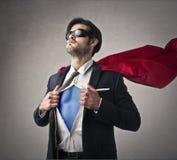 Um super-herói Fotos de Stock Royalty Free