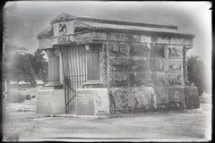 Um túmulo grave da jarda fotografia de stock