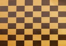 Um tabuleiro de xadrez vazio de madeira Foto de Stock Royalty Free