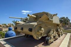 Um tanque italiano na exposição no museu da guerra do EL Alamein em Alamein em Egito Imagem de Stock