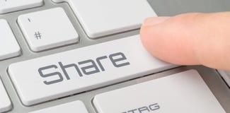 Um teclado com um botão etiquetado - parte Foto de Stock Royalty Free
