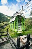 Um teleférico aos crros o Combeima Canon, Colômbia fotos de stock royalty free
