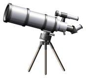 Um telescópio ilustração stock