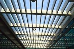 Um telhado moderno da construção da tecnologia Fotos de Stock