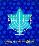 Um tempalte feliz do cartão do hanukah ilustração royalty free