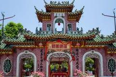 Um templo em Hoi An, Vietname fotografia de stock royalty free