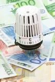 Um termostato do aquecimento Imagens de Stock Royalty Free