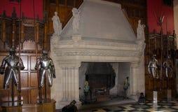 Um terno de armadura no castelo de Edimburgo fotografia de stock