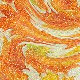 Um teste padrão abstrato do papel de parede projetou em cores mornas do outono: cores alaranjadas, amarelas, vermelhas e verdes b ilustração do vetor