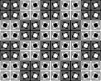 Um teste padrão abstrato monocromático dos quadrados e das outras formas Imagens de Stock