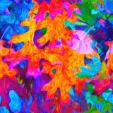 Um teste padrão brilhante do acrílico pintado à mão Imagens de Stock