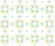 Um teste padrão colorido dos roundshapes imagens de stock