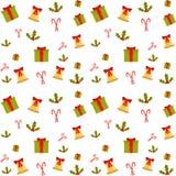 Um teste padrão colorido para o Natal Imagens de Stock Royalty Free
