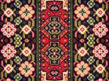 Um teste padrão de elementos florais e geométricos para o tapete, fundamento Fotos de Stock Royalty Free