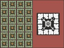 Um teste padrão floral das curvas Imagens de Stock Royalty Free