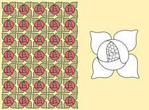 Um teste padrão floral - lírio de água Fotos de Stock