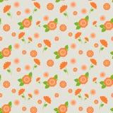 Um teste padrão sem emenda com as flores cor-de-rosa de tamanhos diferentes Fotografia de Stock