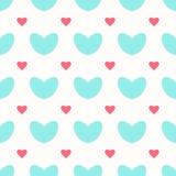 Um teste padrão sem emenda com corações grandes e pequenos Imagem de Stock Royalty Free