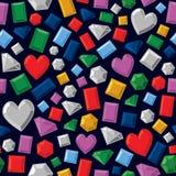 Pedras preciosas sem emenda Imagem de Stock